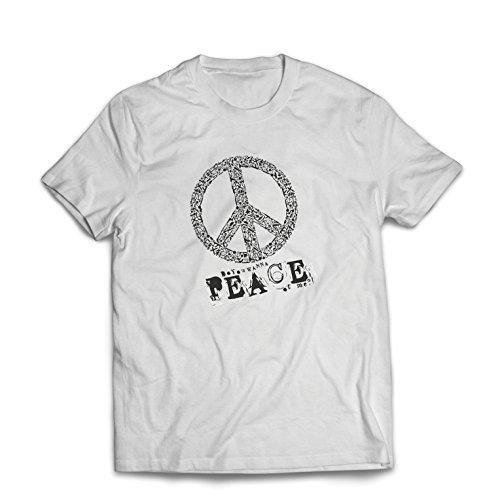 st Du Stück von Mir - Frieden Slogan, 60er 70er Hippie - Hippie Festivals, Hipster Swag (X-Large Weiß Mehrfarben) (60er Jahre Hippie Stil)