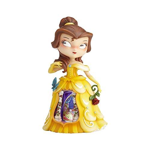 Disney Miss Mindy Presents Belle Figurine, Resin, Multicolour, 14.5 x 13 x 24 cm -