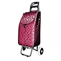 HAMIMI Shopping Cart, Shopping Cart, Small Cart, Portable Cart, Collapsible Trolley, Luggage Trolley shopping cart