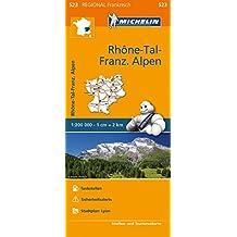 Michelin Rhonetal - Französiche Alpen: Straßen- und Tourismuskarte 1:200.000 (MICHELIN Regionalkarten)