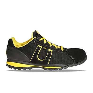 Diadora Glove, S1P, Scarpe antinfortunistiche in tessuto., nero (nero e giallo), 36