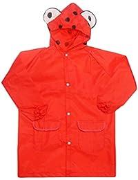 BOMIO Kinder Regenmantel mit Kapuze