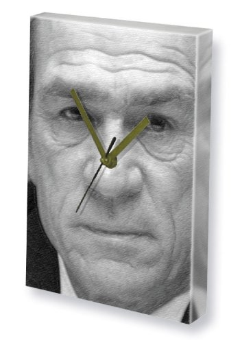Jason Black Frame (TOMMY LEE JONES - Canvas Clock (A4 - Signed by the Artist) #js002)