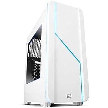 NOX NXHUMMERMCW Midi-Tower White computer case - Computer Cases (Midi-Tower, PC, ABS synthetics, SPCC, ATX,Micro-ATX, White, 0.5 mm)