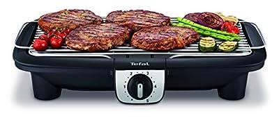 Tefal BG920812 Elektrogrill Easy Grill XXL Bbq auf Tisch Thermostat 5 Temperaturen, für bis zu 10 Personen, 2500 W