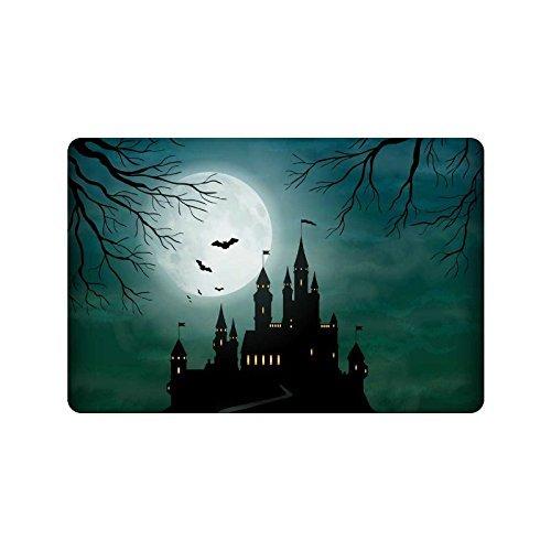 interestprint Full Moon Nacht Home Decor, Halloween Haunted Castle Polyester Stoff Vorhang für die Dusche Badezimmer-Sets mit Haken 182,9x 182,9cm, Textil, multi, 23.6 X 15.7 inch (Vorhang-set Halloween-dusche)