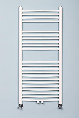 scaldasalviette termosifone da bagno 1120x500mm bianco singolo