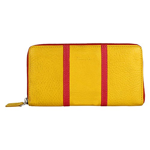 amicraft-YellowRed-Genuine-Leather-Womens-Wallet-N101