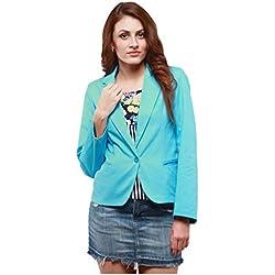 Yepme Women's Blue Cotton Blazer - YPMBLZR5014_S