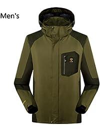 WE&ZHESoft Shell Jackets3-en-1 dos piezas desmontable impermeable a prueba de viento aislado puede ser desgastada chaqueta de montaña de invierno y otoño solo , 5# , xxxl
