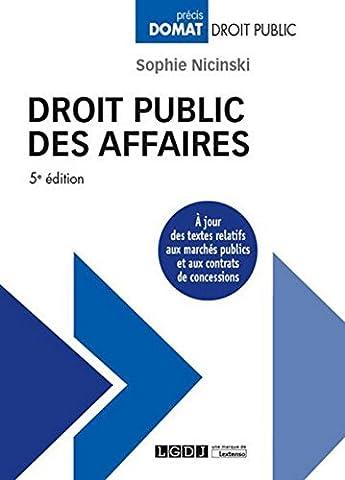 Droit Public Des Affaires - Droit public des affaires, 5ème