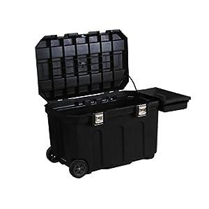 Stanley Werkzeugbox (96,2 x 59,1 x 57,8 cm, robust und mobil, 190l Stauraum, belastbar, Koffer mit Metallverschlüssen, Box mit herausziehbarem Handgriff) 1-93-278