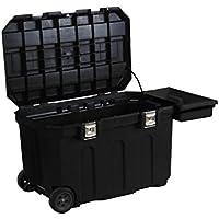 Stanley Werkzeugbox/Werkzeugkoffer (96.2x59.1x57.8cm, robust und mobil, 190l Stauraum, belastbar, Koffer mit Metallverschlüssen, Box mit herausziehbarem Handgriff) 1-93-278