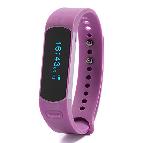 Nuband Evolve Activity Tracker with Sleep Tracker and Alarm - Plum