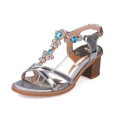 LFNLYX Donna tacchi Primavera / Autunno / Inverno piattaforma / Comfort materiali personalizzati / similpelle matrimonio abito / / Casual Chunky fibbia tacco Silver