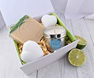 Gin & Tonic Gift Spa Bath Pamper Set. Bath Bombs, Soap, Candle. Handmade by Fizzy Fu