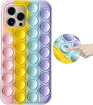 Fidget Toys Phone Case, Pop Fidget Reliver Stress Toys Push Pop Bubble Protecive Phone Case, Silicone Shockpro