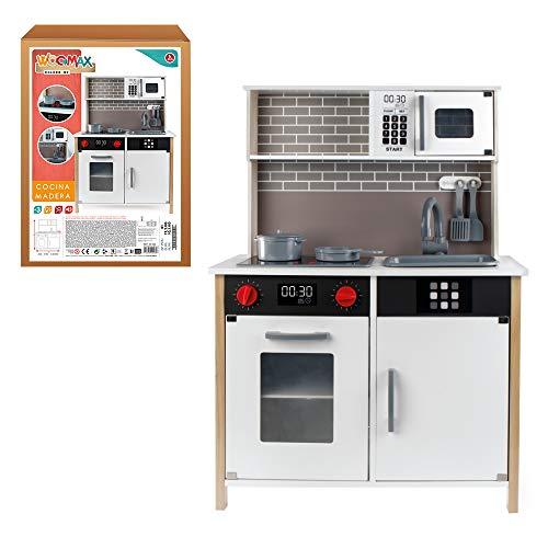 WOOMAX - Cocina de madera con accesorios