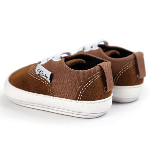 Igemy 1 Paar Baby Mädchen Jungen Segeltuch Lässige Schuhe Sneaker Anti-Rutsch Weiche Sole Kleinkind Kaffee