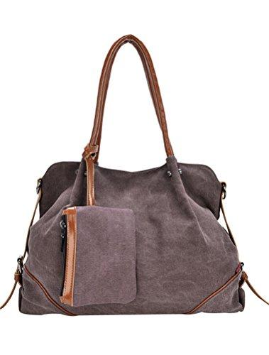 MatchLife da donna Borsa di tela spalla borsa 3Pezzi Set con piccola borsa e borsellino, Cameo (marrone) - CLSL0213-Cameo Cameo