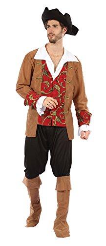 4rot/braun Pirat männlich Kostüm (mittel) (Piraten Kostüm Herren Uk)