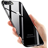 Custodia iPhone 8 Plus,Custodia iPhone 7 Plus,ikalula iPhone 8 Plus Cover Trasparente Silicone Gomma TPU Case iPhone 7 Plus Caso Ultra Anti-Graffio Antiurto Anti Bumper Case per iPhone 8 plus