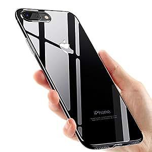 Custodia iPhone 8 Plus,Custodia iPhone 7 Plus,ikalula iPhone 8 Plus Cover Trasparente Silicone Gomma TPU Case iPhone 7 Plus Caso Ultra Anti-Graffio Antiurto Anti Bumper Case per iPhone 8 plus