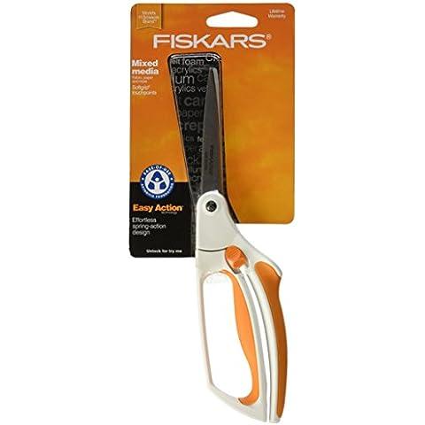 Fiskars 2911 - Tijeras universales, 26 cm, surtido: colores aleatorios (blanco/ naranja o negro/ gris)