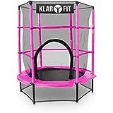 Klarfit Rocketkid - Trampoline avec surface de saut de 140cm et filet de sécurité (supporte jusqu'à 50 kg, à partir de 3 ans)