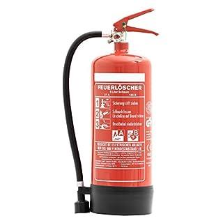 Feuerlöscher 6L Schaum Bio-DIN EN3 für Gewerbe geeignet + ANDRIS® Prüfnachweis mit Jahresmarke