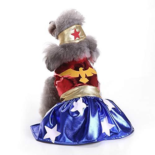 Charakter Jungen Tag Für Kostüm - Gaxyd Hund Katze Halloween Kostüm, Haustier Cosplay Super Klaue Rock Kleid Anzug Mit Hut, Weihnachten Wunderbare Lustige Drehbühne Party Leistung Charakter Kleidung, XL