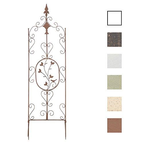 Clp supporto piante rampicanti burgus in acciaio - recinzione per rampicanti 120x35 cm i graticcio per fiori stile rustico - reticolato rose facilmente collocabile marrone antico