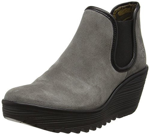 Fly London Yat, Stivaletti Donna, Grigio (Ash(black) 032), 39 EU