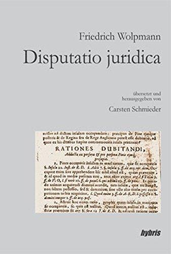 Buch: Disputatio juridica von Carsten Schmieder