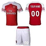 WFhome Personalisierte Arsenal Home Football Shirt Benutzerdefinierte Fußball Trikots mit Team Name Player Namen und Zahlen