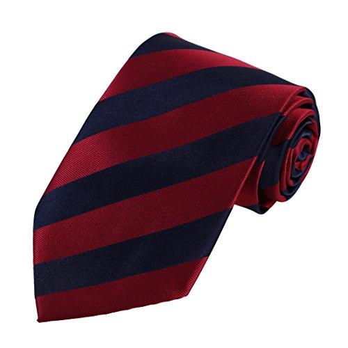DAA7A05C Rojo Azul Rayas Negocio novios corbata Tejido de microfibra Caballeros corbata por Dan Smith