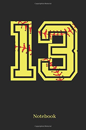 13 Notebook: Softball Player Jersey Number 13 Sports Blank Notebook Journal Diary For Quotes And Notes - 110 Lined Pages por Sporty Girl