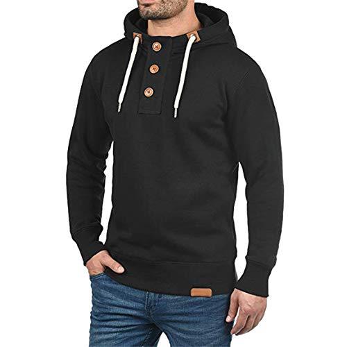 Männliche Volle Ärmel Hoodies Fashion Trip Männer Mit Kapuze Pullover Hoodie Pullover mit Tasten Mantel Solide Sweatshirt Moonuy -