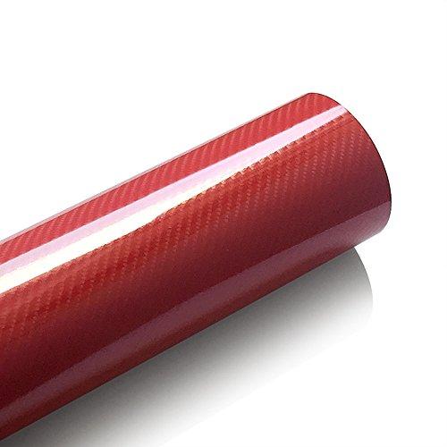 MRCARTOOL Carbon Fiber Vinyl Wrap 5D Blatt wickeln Rolle Auto Auto Decor Aufkleber mit Hochglanz-Blase frei Lufefreigabe große Textur Blatt Warp Roll Film (4.9ftx1.6ft) (Blue)