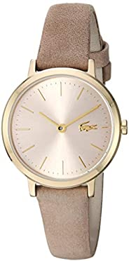 Lacoste Womens Quartz Watch, Analog Display and Leather Strap - 2001049