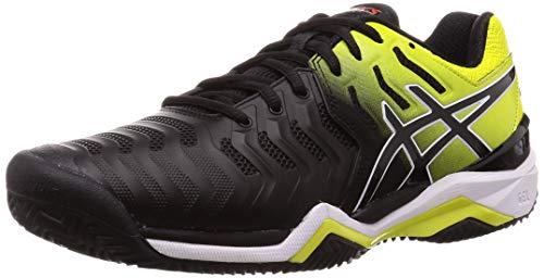 ASICS Gel-Resolution 7 Clay E702y-003, Scarpe da Tennis Uomo, Nero (Black, 47 EU
