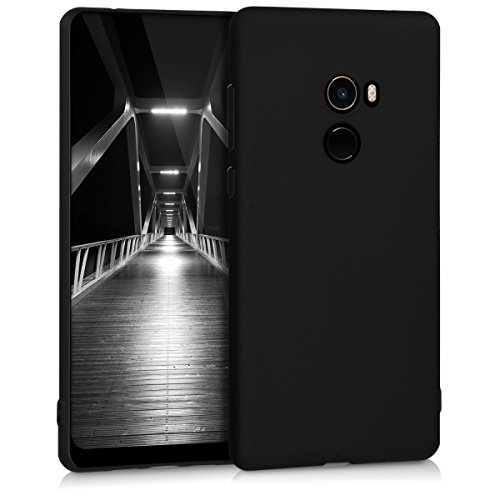 kwmobile Funda para Xiaomi Mi Mix 2 - Case para móvil en TPU silicona - Cover trasero en negro mate