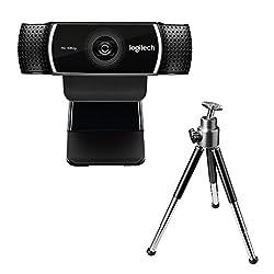 Logitech C922 Pro Stream Webcam (1080p30fps Oder 720p60fps, Mit Mikrofon Und Stativ, Arbeitet Mit Xbox One) Schwarz