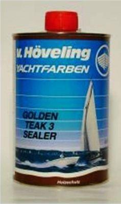 v. Höveling Golden Teak Sealer 3 Transparente Imprägnierung 1 Liter (Deck Sealer)