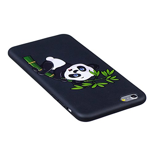 BONROY® Apple iPhone 6 / 6S Plus Coque Housse Etui,Fashion Belle Ultra-Mince Thin Soft Silicone Etui de Protection pour Souple Gel TPU Bumper Poussiere Resistance Anti-Scratch Case Cover Couverture Po Bambou escalade de Panda