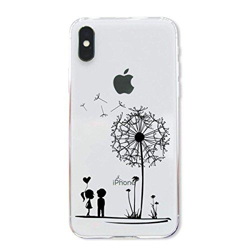finoo | Iphone X Hard Case Handy-Hülle mit Motiv | dünne stoßfeste Schutz-Cover Tasche in Premium Qualität | Premium Case für Dein Smartphone| Kaugummi Pink Pusteblume