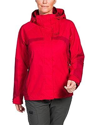 Jack Wolfskin Damen Wetterschutzjacke Topaz Jacket II, L, Rot (Red Fire) von Jack Wolfskin - Outdoor Shop
