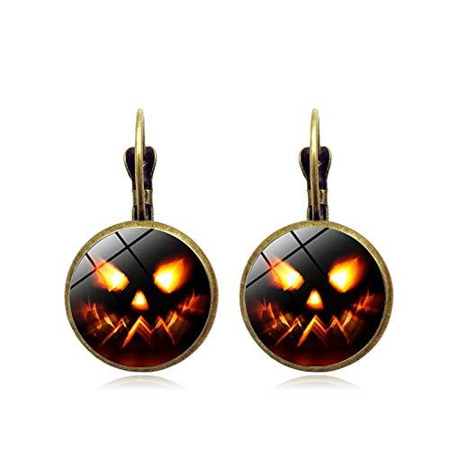 Blisfille Halloween Schloss Zeit Edelstein Ohrringe Vintage Bronze Ohrringe Urlaub Ohrringe Herren Damen ()