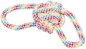 SRI Non-Toxic Puppy Cats Chew Rope Toy with A Tug- Knotted Cotton for Biting Training Playing Chewing (MULTI 2)