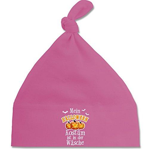 Anlässe Baby - Mein Halloween Kostüm ist in der Wäsche - Unisize - Pink - BZ15 - Baby Mütze mit einfachem Knoten als Geschenkidee (Flamme Hut Kostüm)
